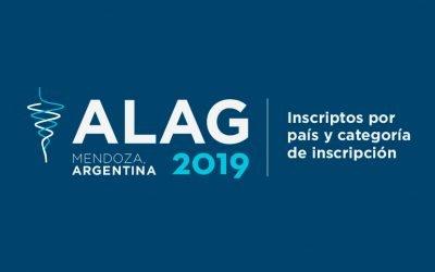 ALAG 2019  |  Inscriptos por país y categoría