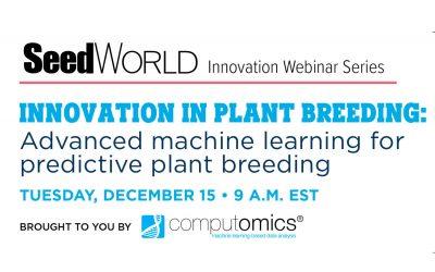 Webinar: Innovation In Plant Breeding: Advanced machine learning for predictive plant breeding