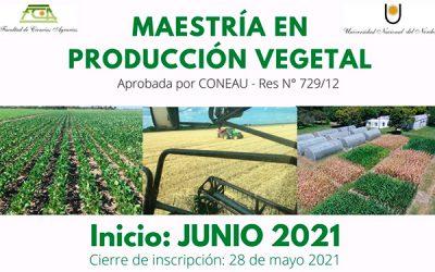 Maestría en Producción Vegetal